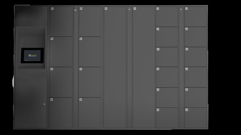 E-Locker Bank Illustration