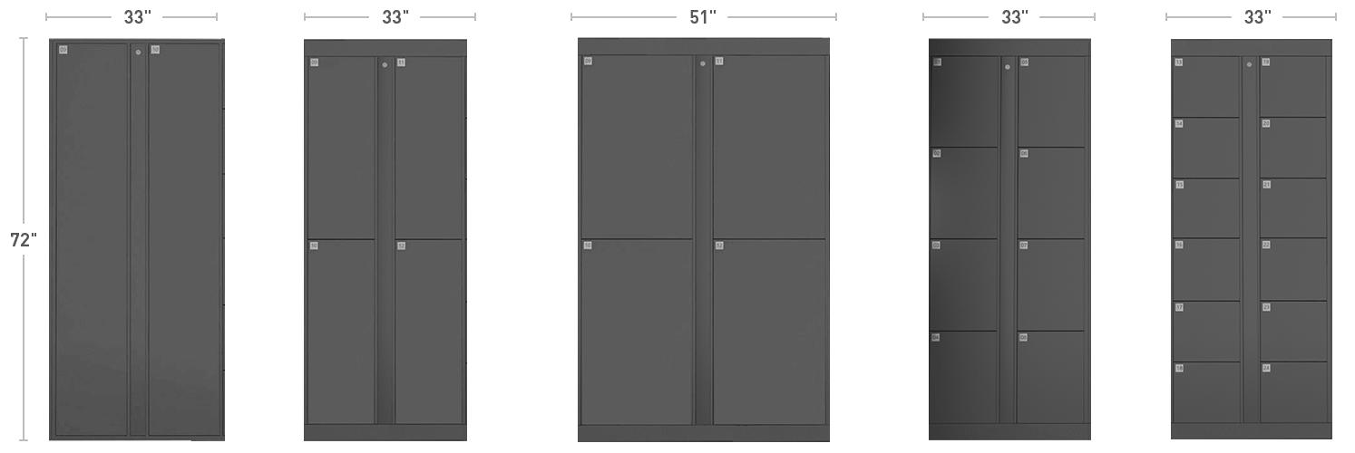 Locker Dimensions - New